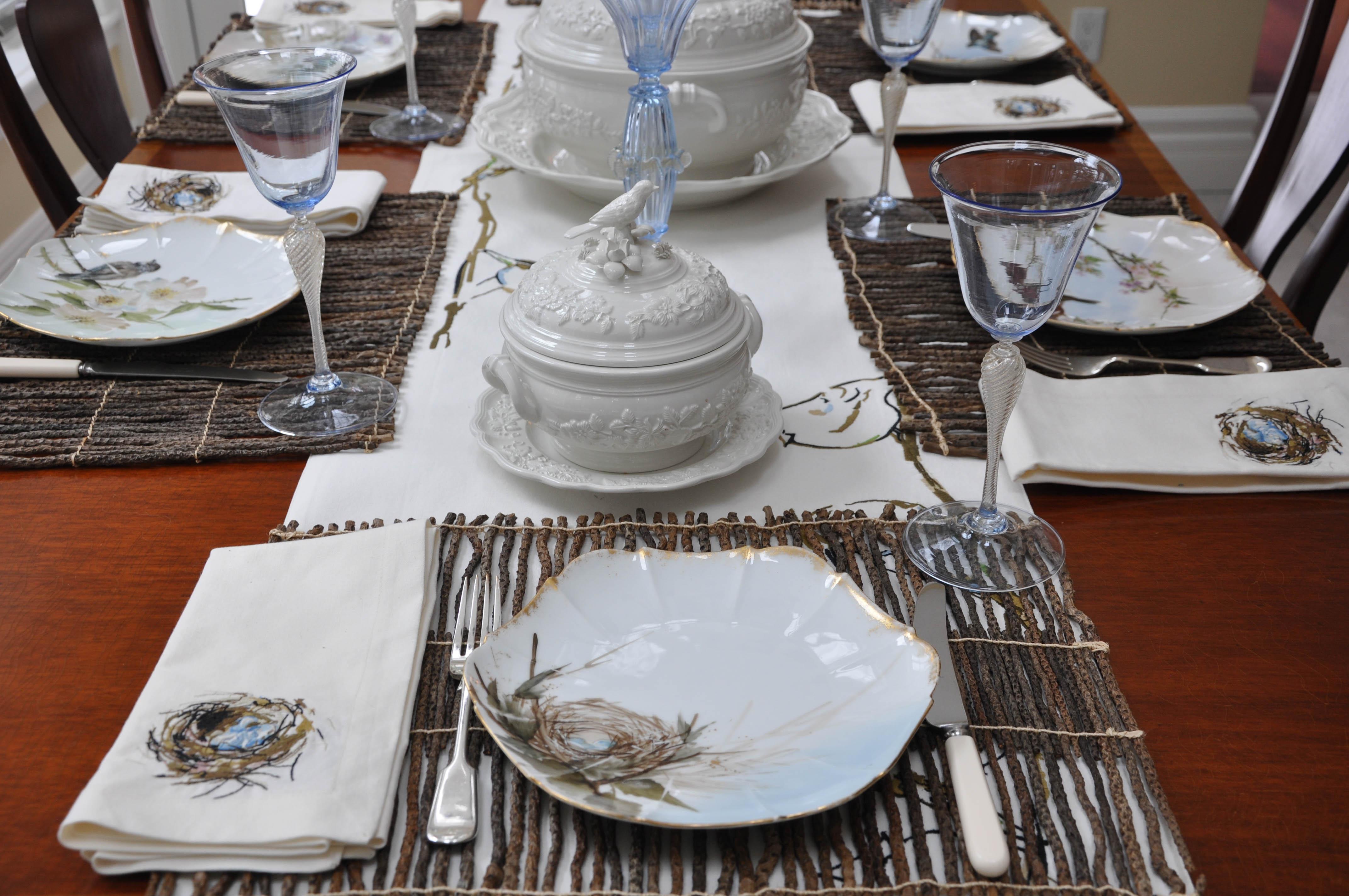 Bird Plates with Tureens-312