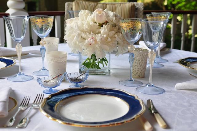 French Blue – Spode & Venetian Glass