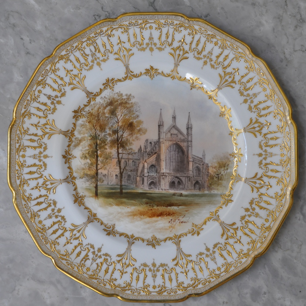 Tams Near Me >> Royal Doulton Cathedral Plates, signed by John Hugh Plant – Entertablement