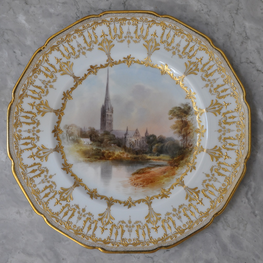 Royal Doulton Cathedral Plates Signed By John Hugh Plant