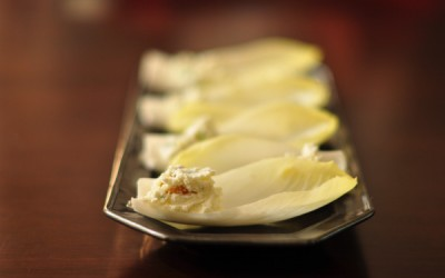 Endive with Ricotta Cheese, Candied Ginger & Golden Raisins