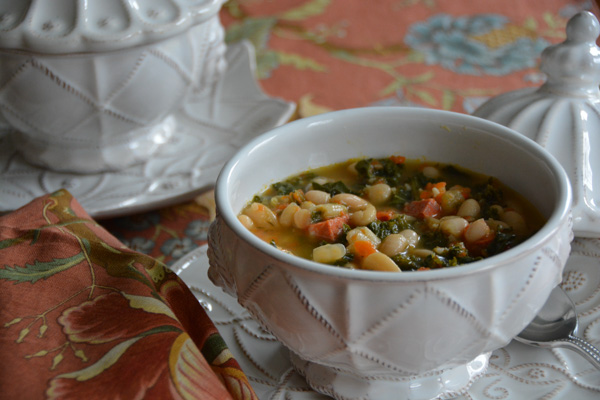Cannellini Bean Soup with Chorizo and Kale