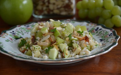 Barley Salad With Green Apples, Grapes & Cheddar