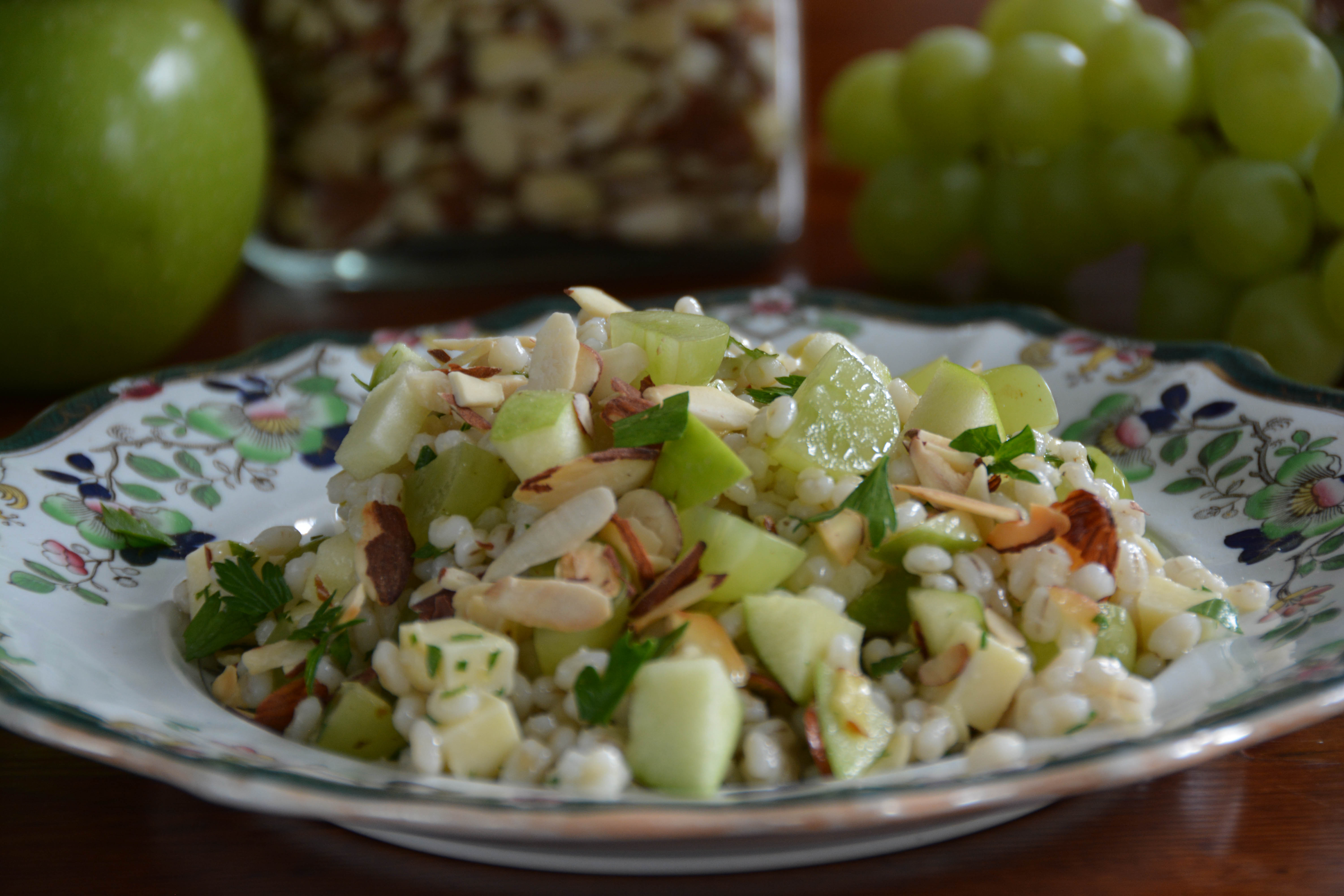 Barley Salad With Green Apples, Grapes & Cheddar ...