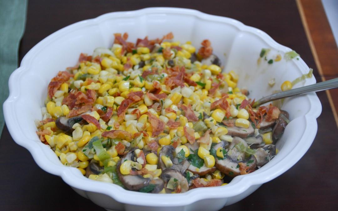 Corn, Mushroom, Leeks and Pancetta