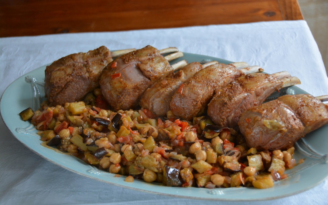 Lamb Chops with Eggplant and Indian Spices
