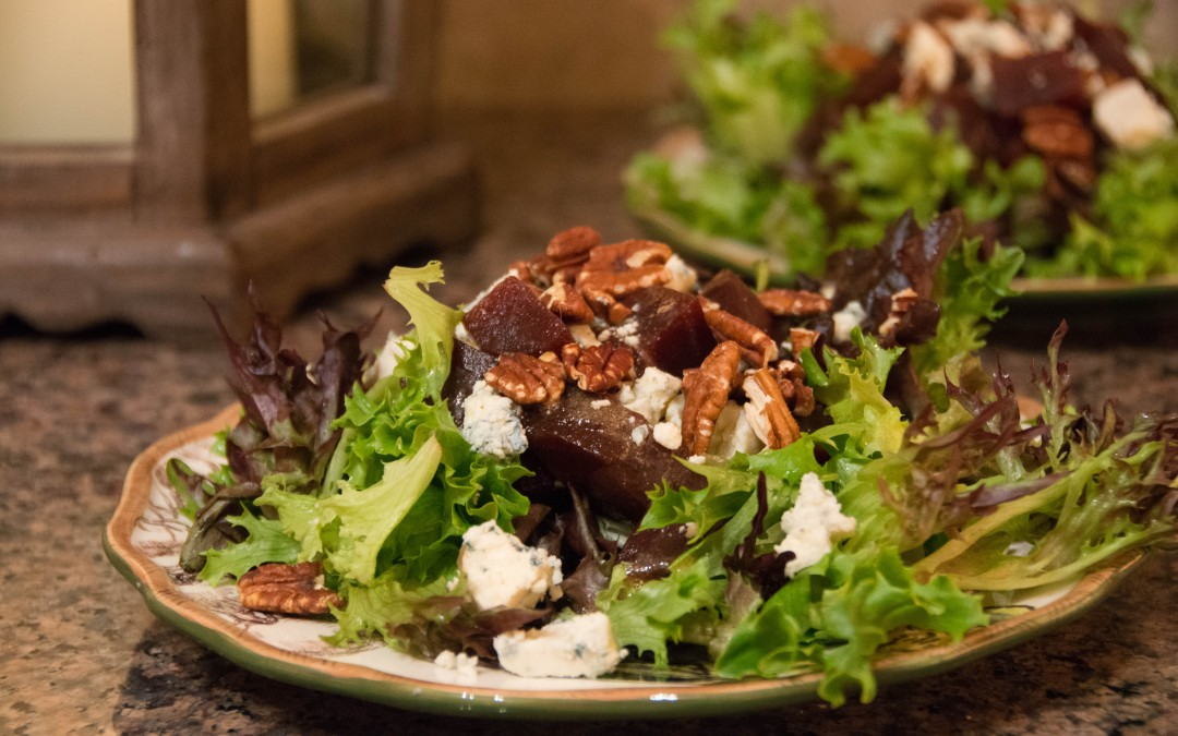 Roasted Beet, Blue Cheese and Pecan Salad