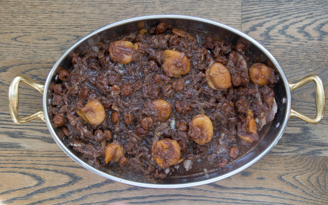 Spiced Beef Brisket with Dried Apricots and Cherries