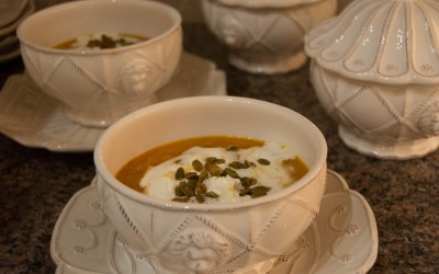 Pumpkin Soup with Spicy Pepitas