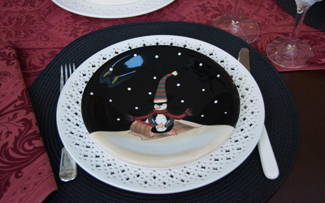 Creamware & Midnight Penguins