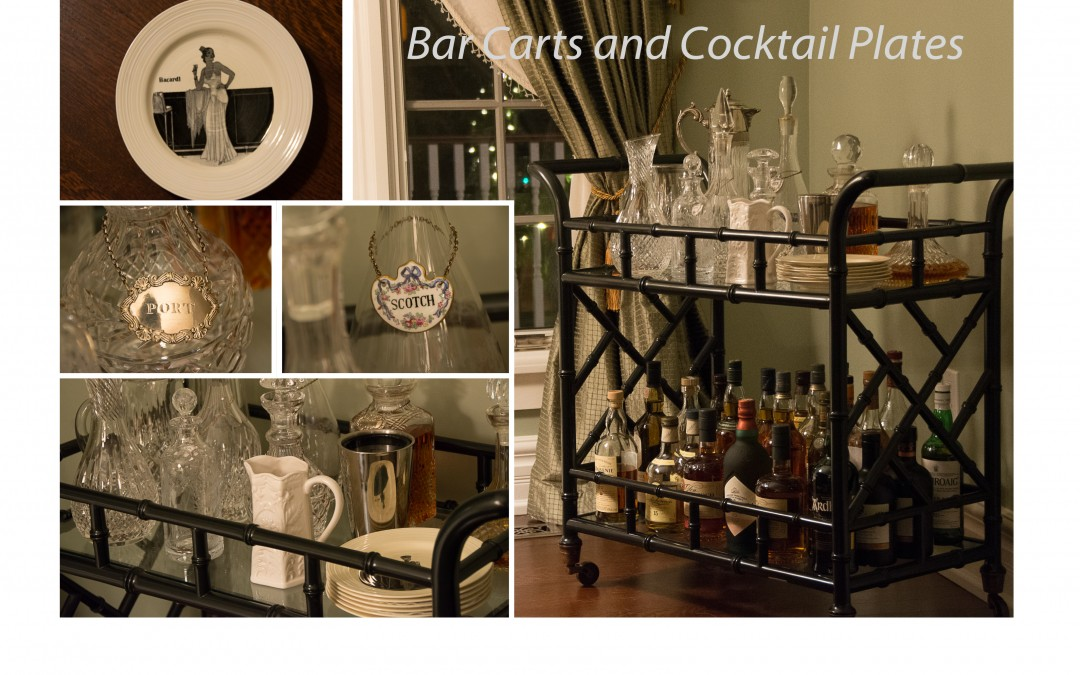 Bar Carts and Cocktail Plates
