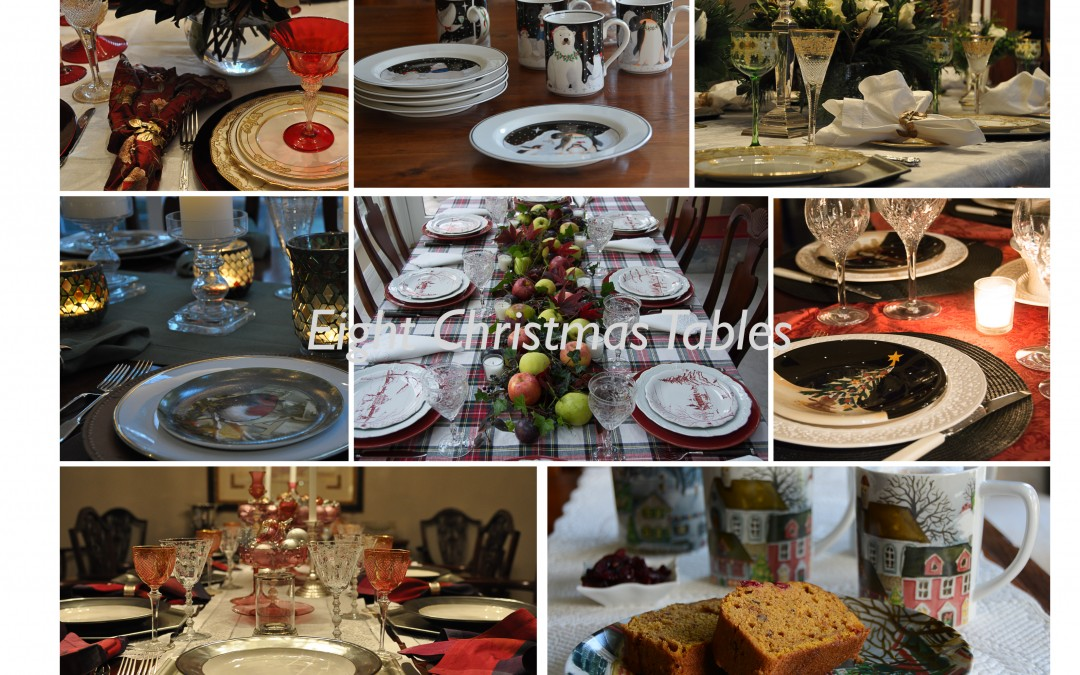 Eight Christmas Tables