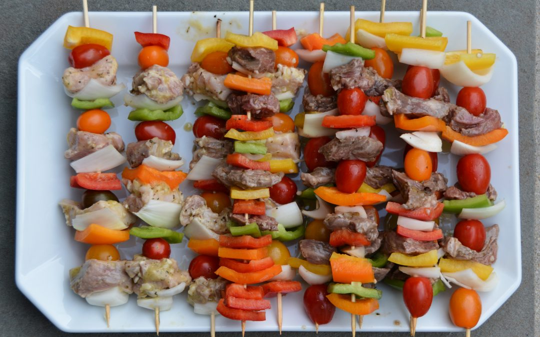 Chicken and Pork Kebabs