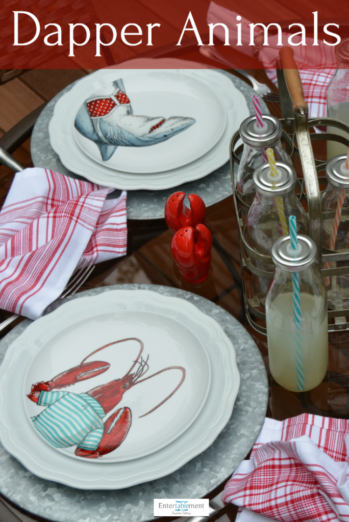 sea creatures on table setting