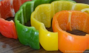 red green yellow and orange peppers