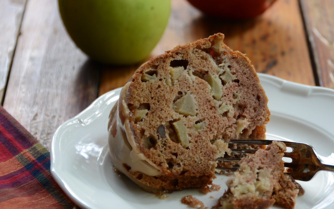 Leanne's Apple Bundt Cake with Apple Butter & Bourbon Glaze
