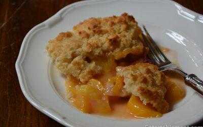 Peach Plum Cobbler