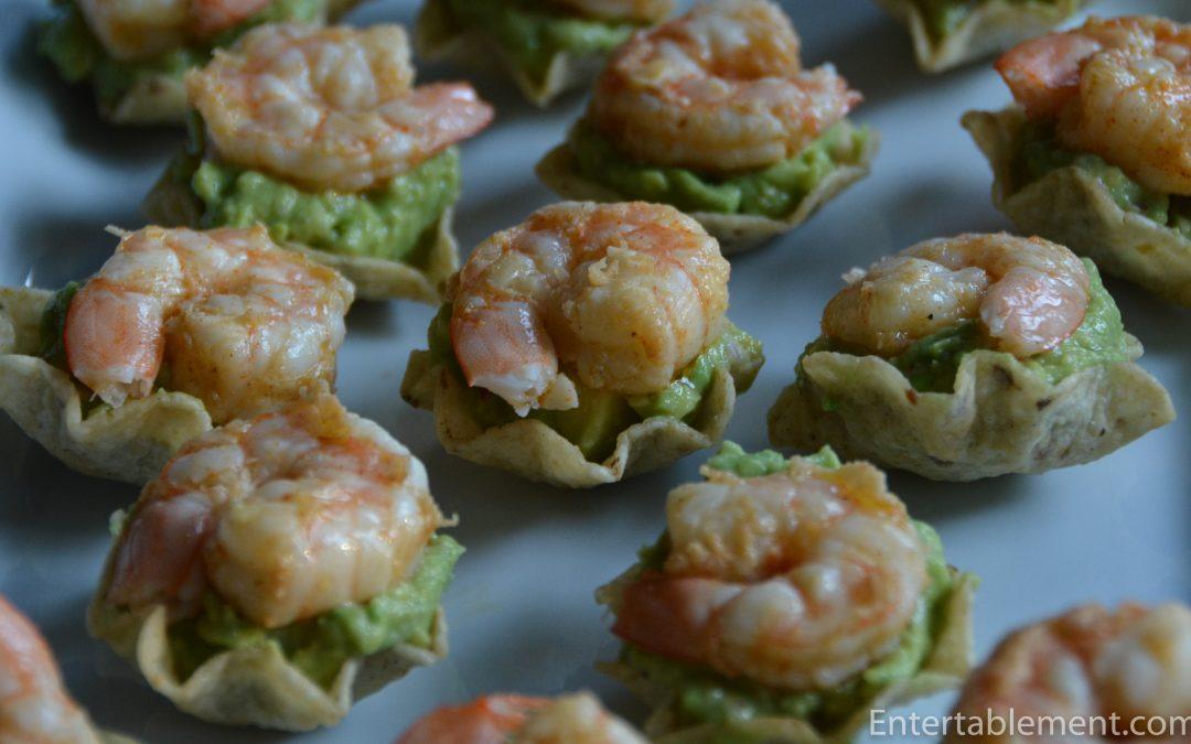 Tostadas with Shrimp & Guacamole