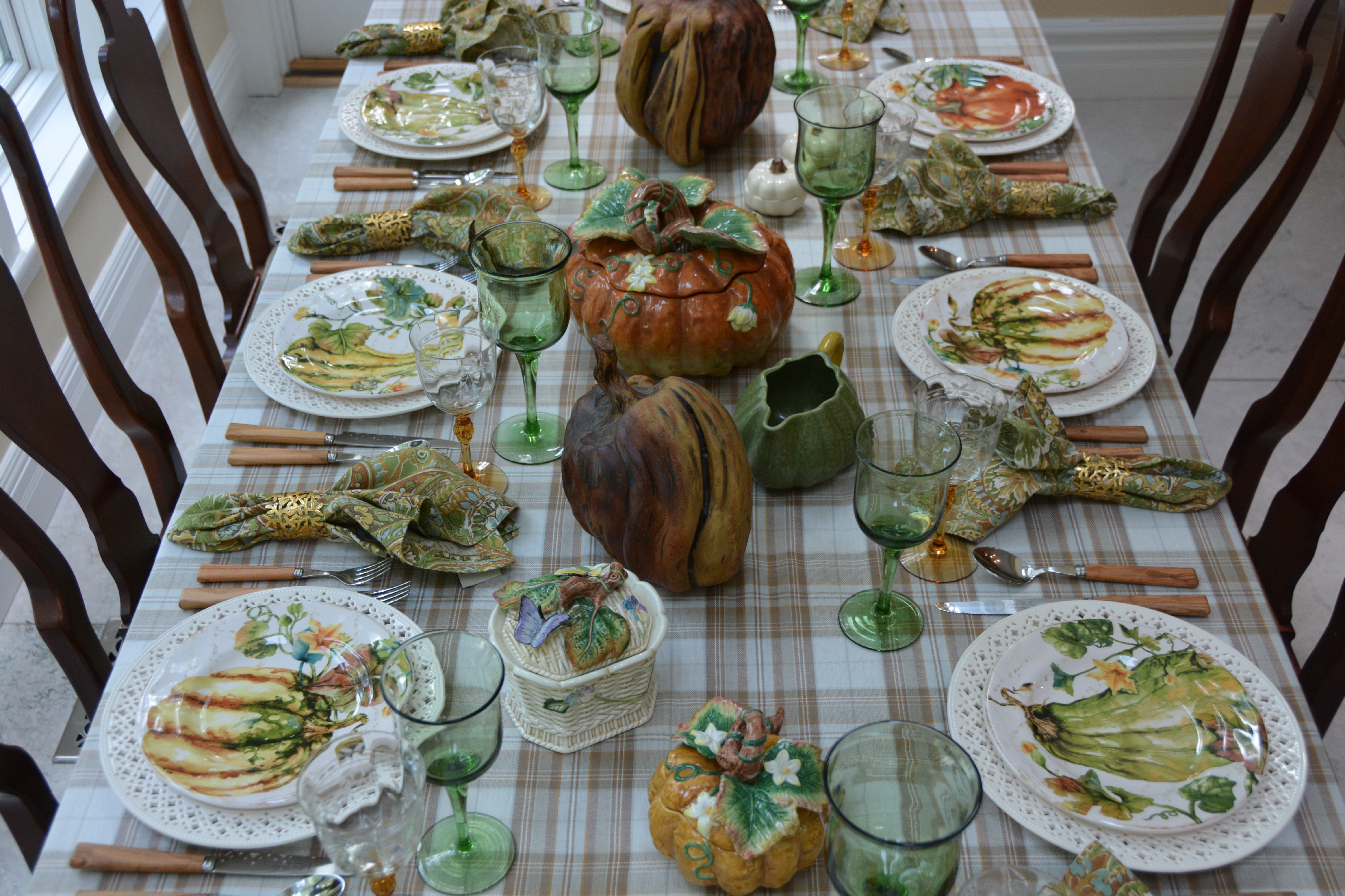 The Tablecloth Is A HomeSense (HomeGoods In The US) Purchase, And Its Warm  Neutral Tones Of Brown, Grey And Cream Served As A Coordinating Base For  The ...
