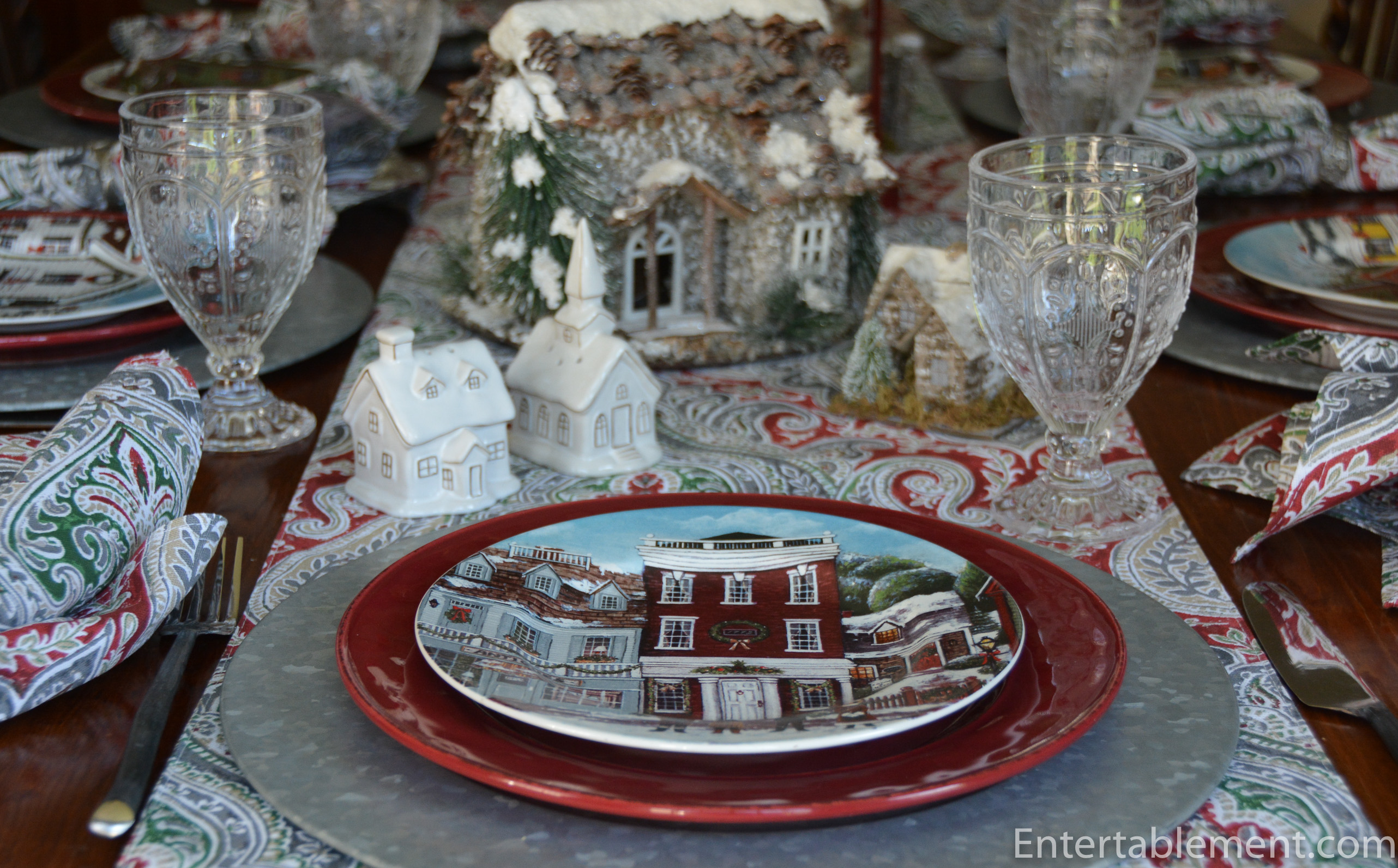 Christmas Village By David Carter Brown Entertablement