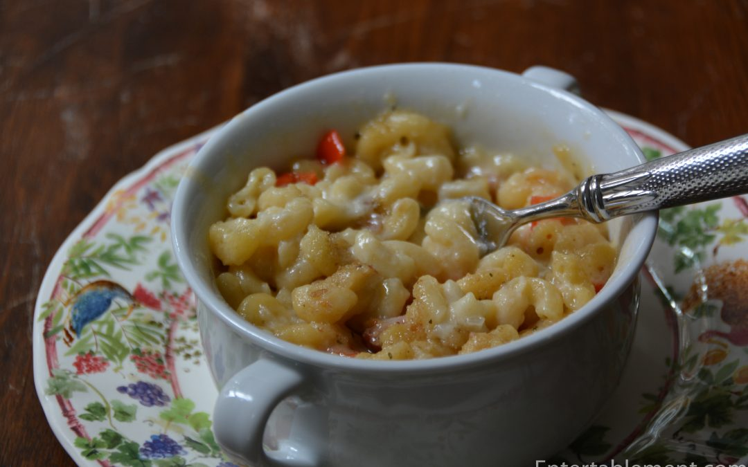 Mac and Cheese with Ham and Red Pepper