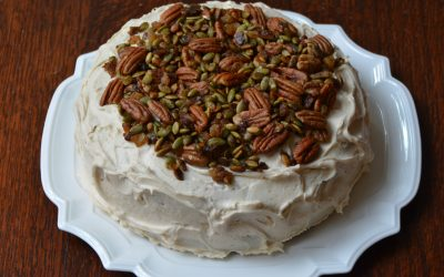 Pumpkin Cake with Brown Butter Cream Cheese Icing