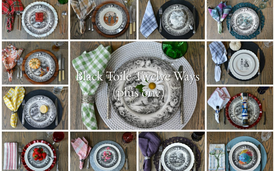 Black Toile Twelve Ways (Plus One)