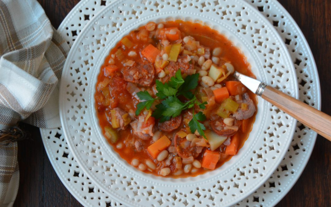 Flageolet Bean, Ham Hock & Chorizo Soup