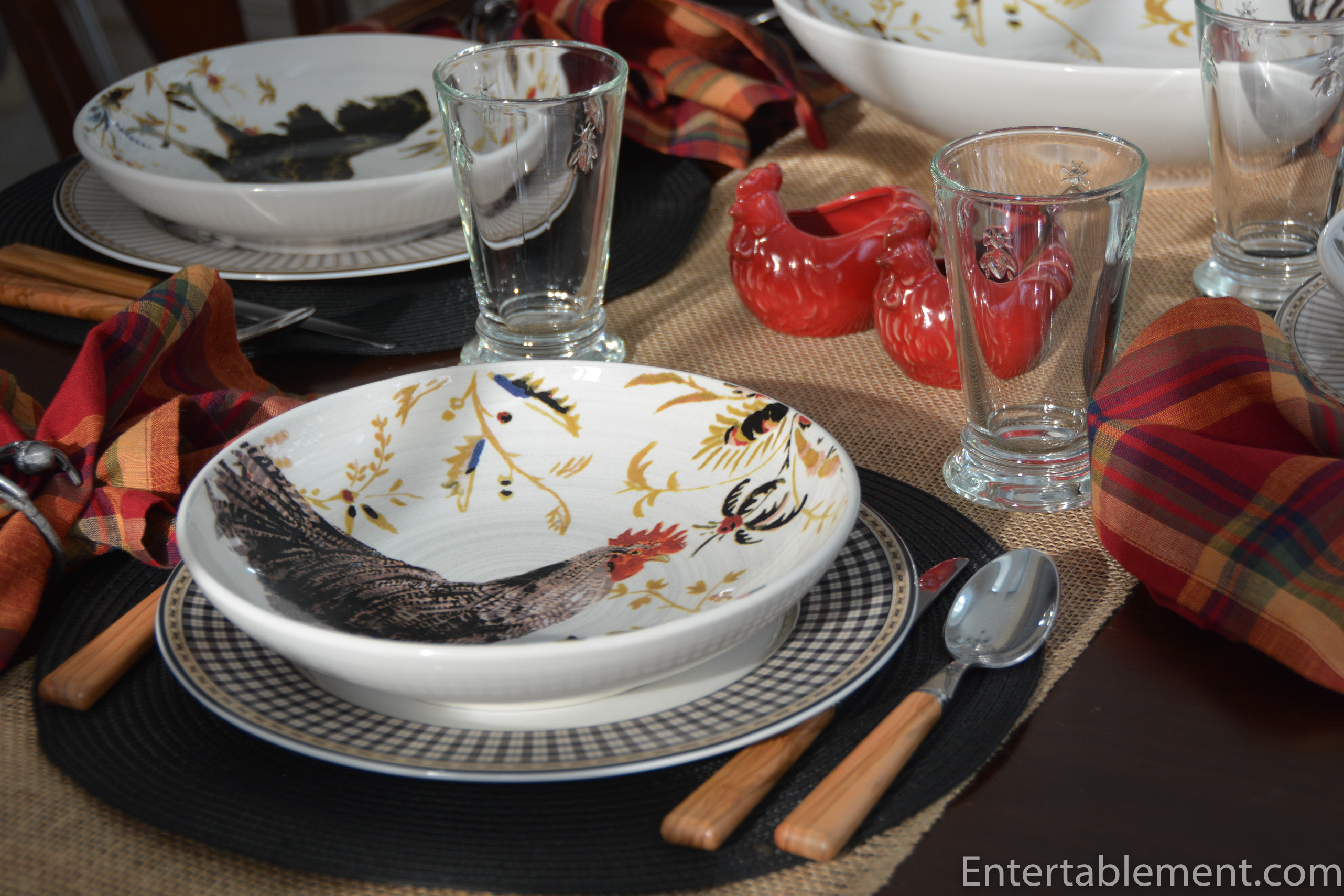 Williams Sonoma Christmas Table.Rooster Francais By Williams Sonoma Entertablement