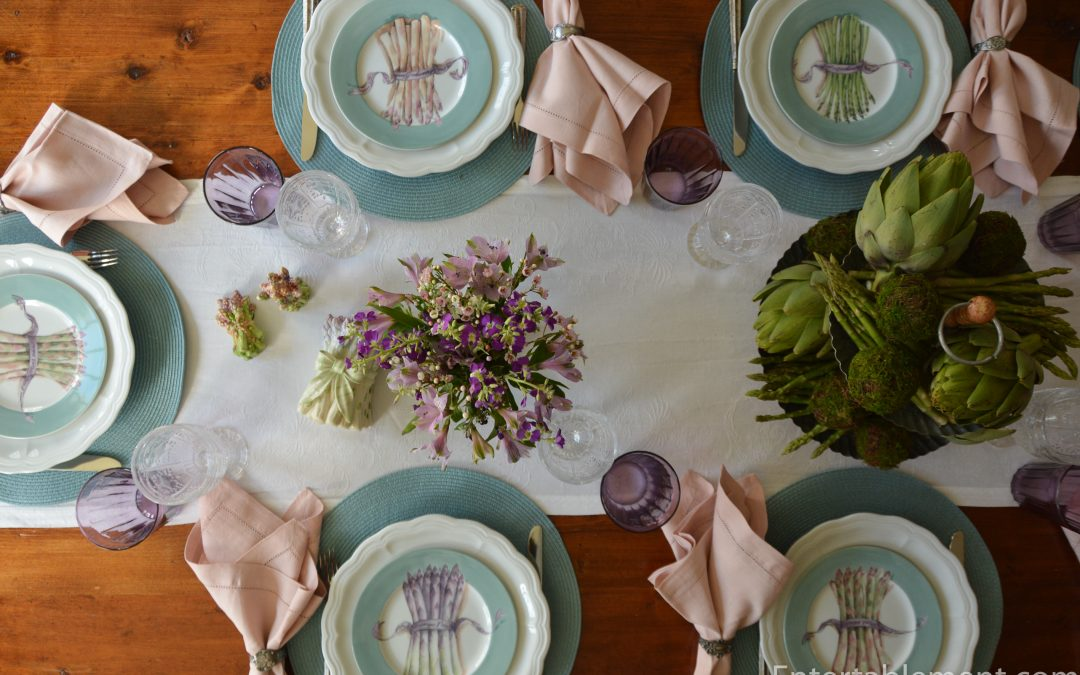 Williams Sonoma Asparagus Plates