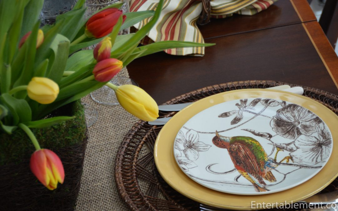 Botanical Birds by Marc Lacaze for Williams Sonoma