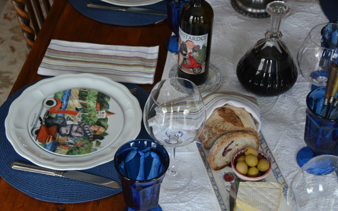 brunch table set with Perigord by Williams Sonoma
