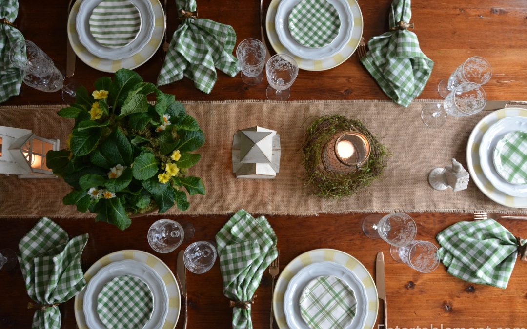 Green Gingham Appetizer Plates by Pier 1