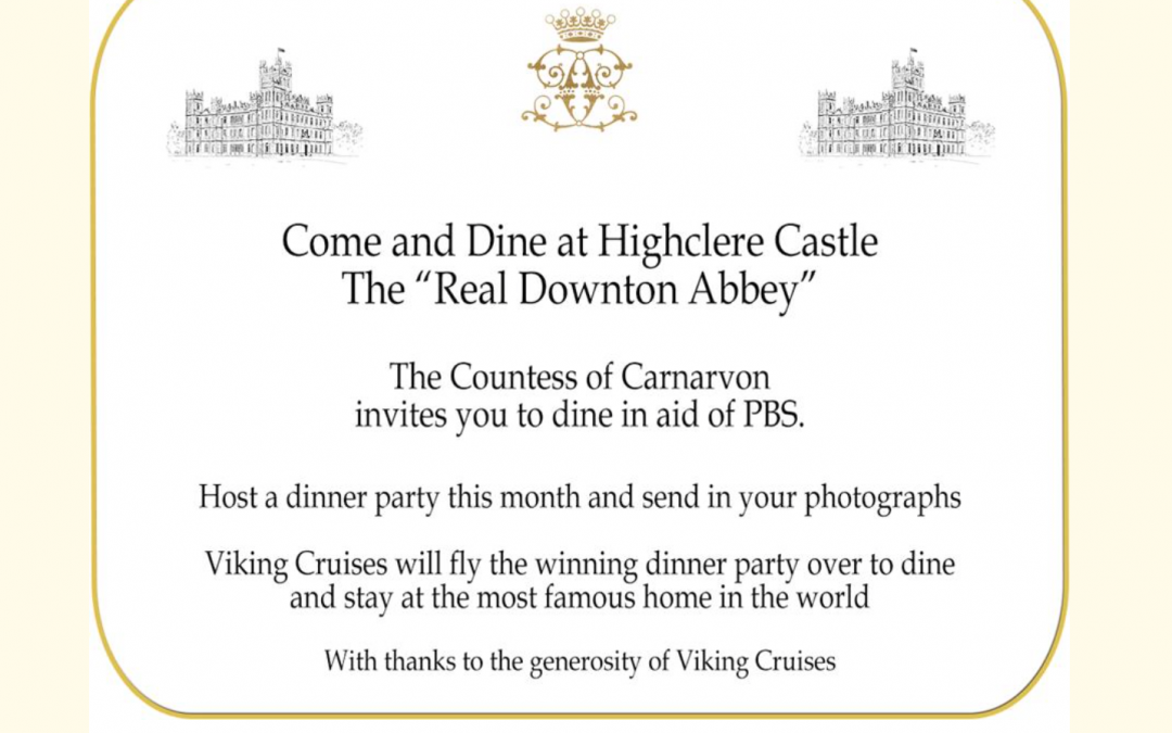 Updated: Come and Dine at Highclere. The Winner Is…