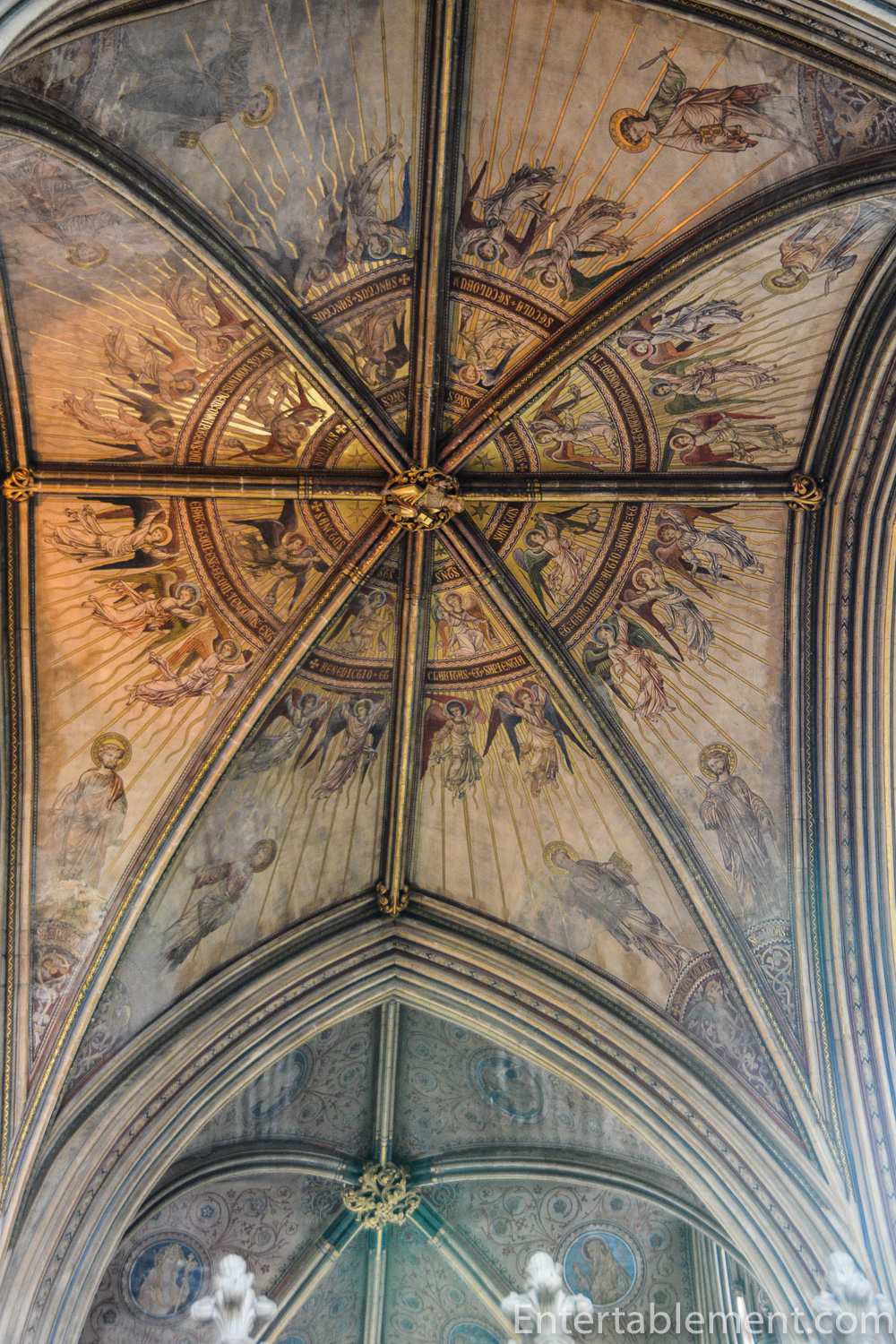 Ceiling detail in Worcester Cathedral