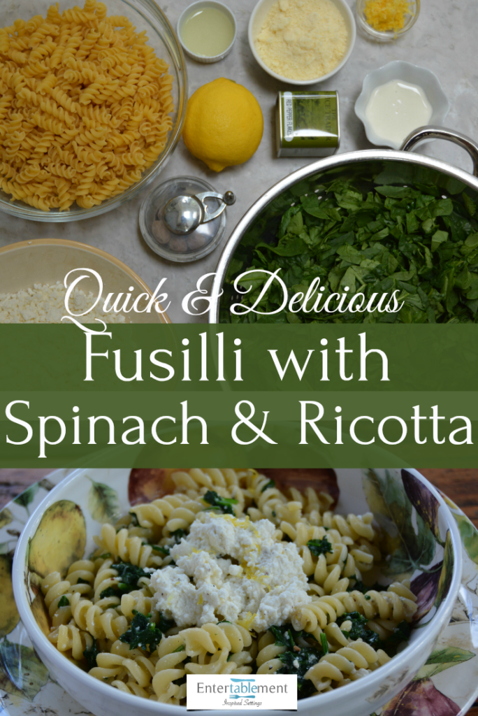 fusilli with spinach and ricotta recipe