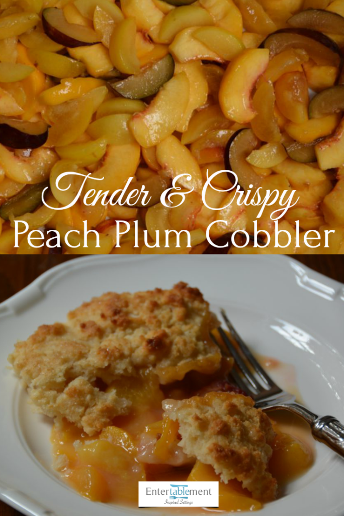 peach plum cobbler recipe