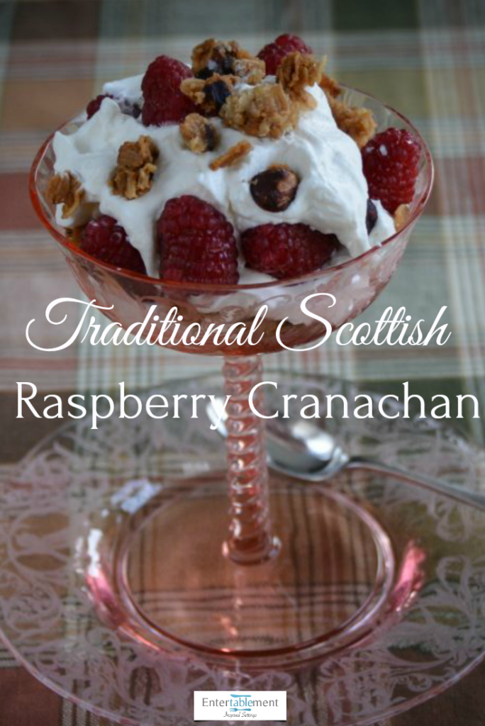 raspberry whiskey cream parfait Scottish recipe