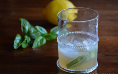 Bourbon Cocktail with Lemon & Basil