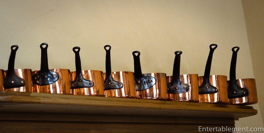 Copper pots at Dyrham