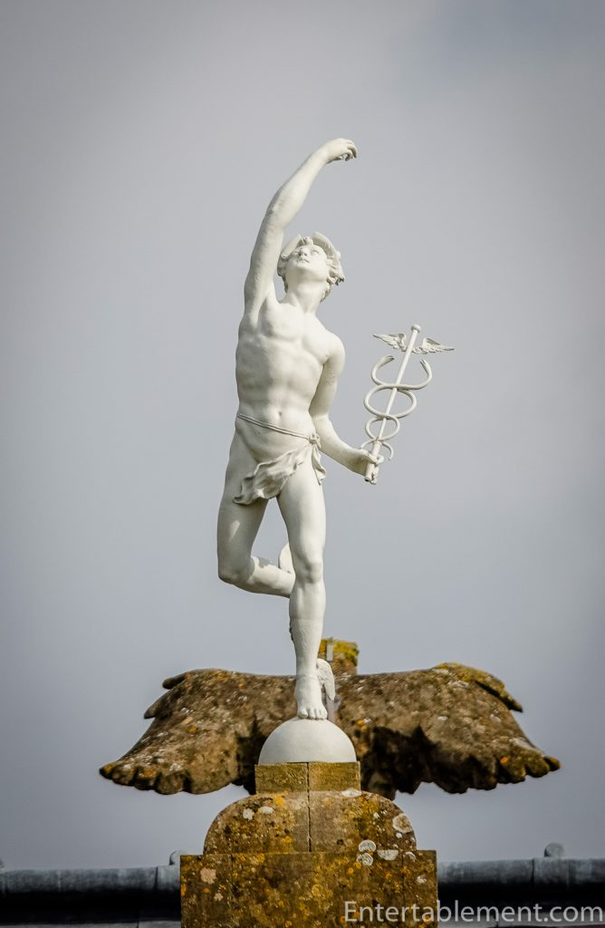 Statue on top of roof at Dyrham Park