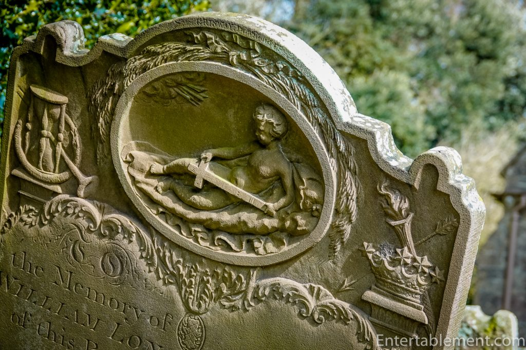 Headstone at Dyrham Park
