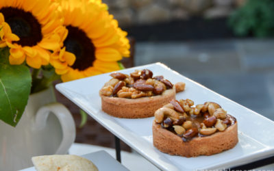 Pumpkin Tarts with Salted Caramel Nuts