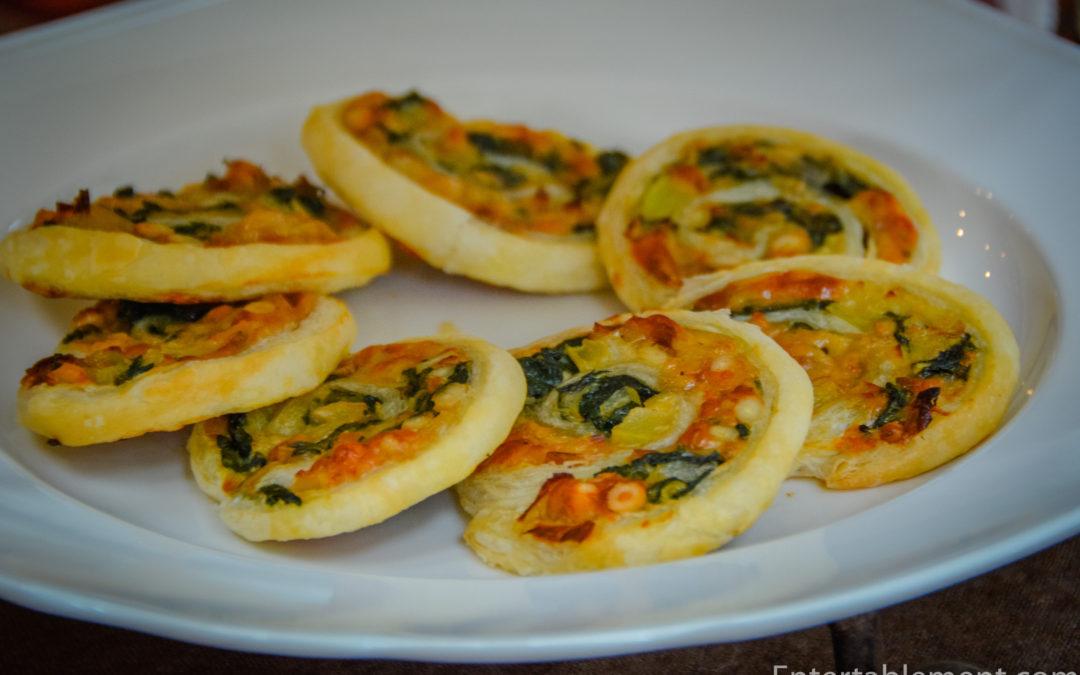 Spinach, Fennel, Leek and Pine Nut Pinwheels
