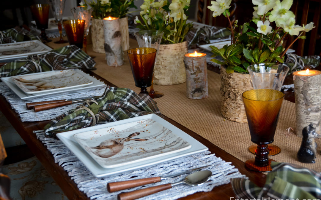 A Winter Wildlife Table with Woodland Walk