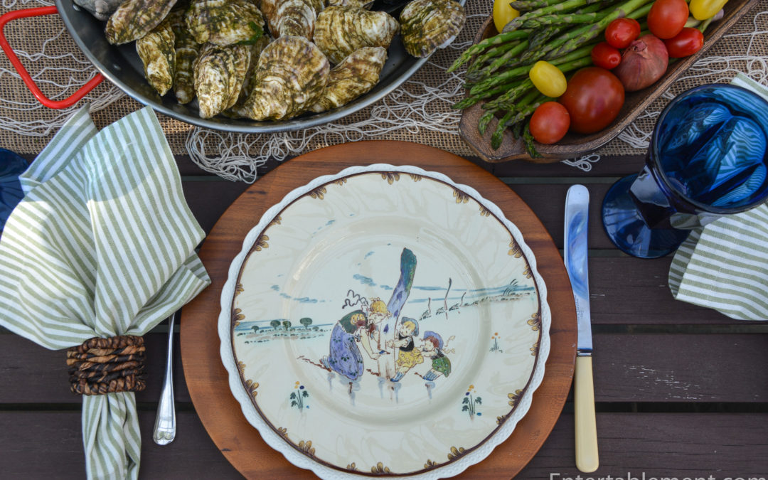 French Delicacies on Faience Plates