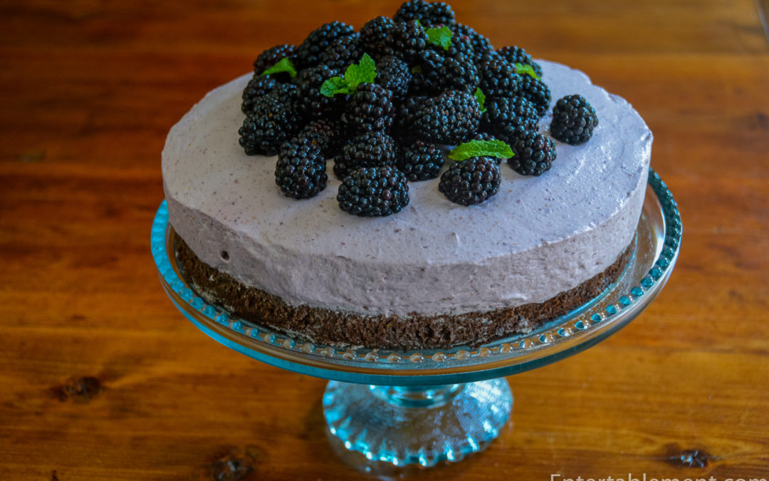 Blackberry Orange Mousse Cake