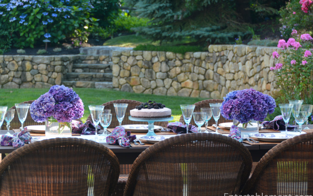 Outdoor Dining with a Blackberry Theme