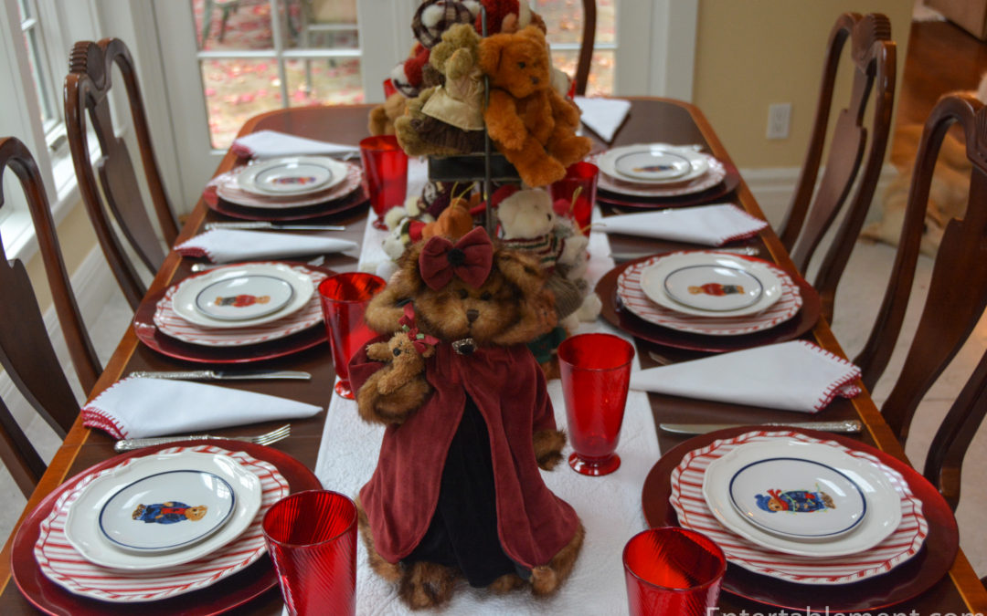A Teddy Table for Christmas