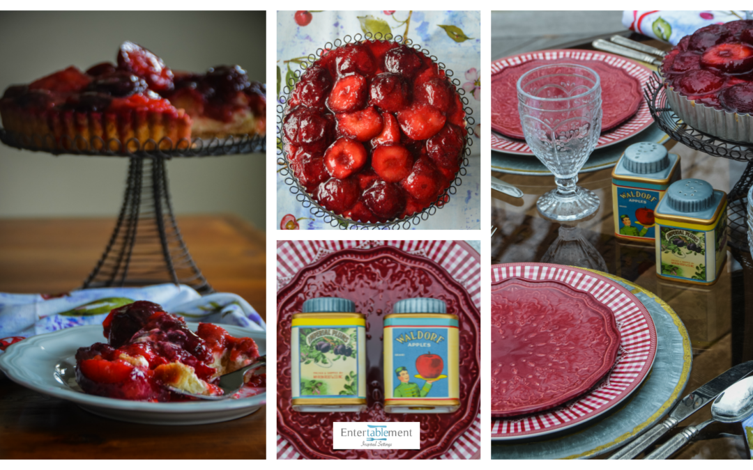 A Jewel-Toned Table with Roasted Plum Tart